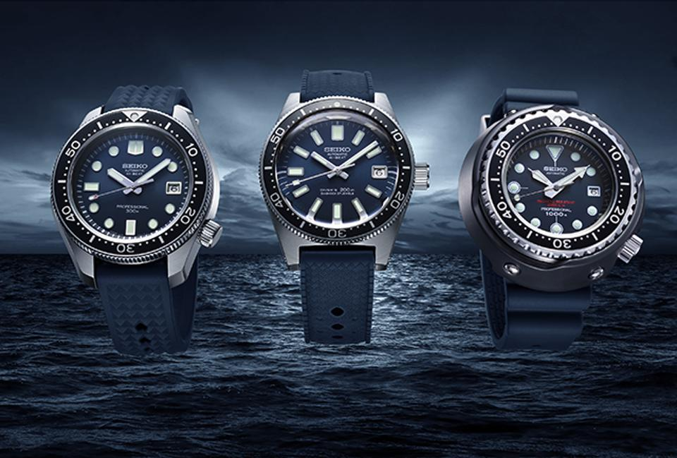 The Prospex Trilogy: Modern re-creations of Seiko's historic first three diver's watches.