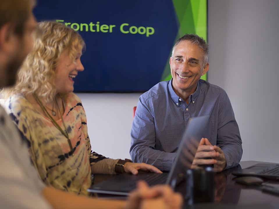 Frontier Co-Op CEO Tony Bedard with his team.