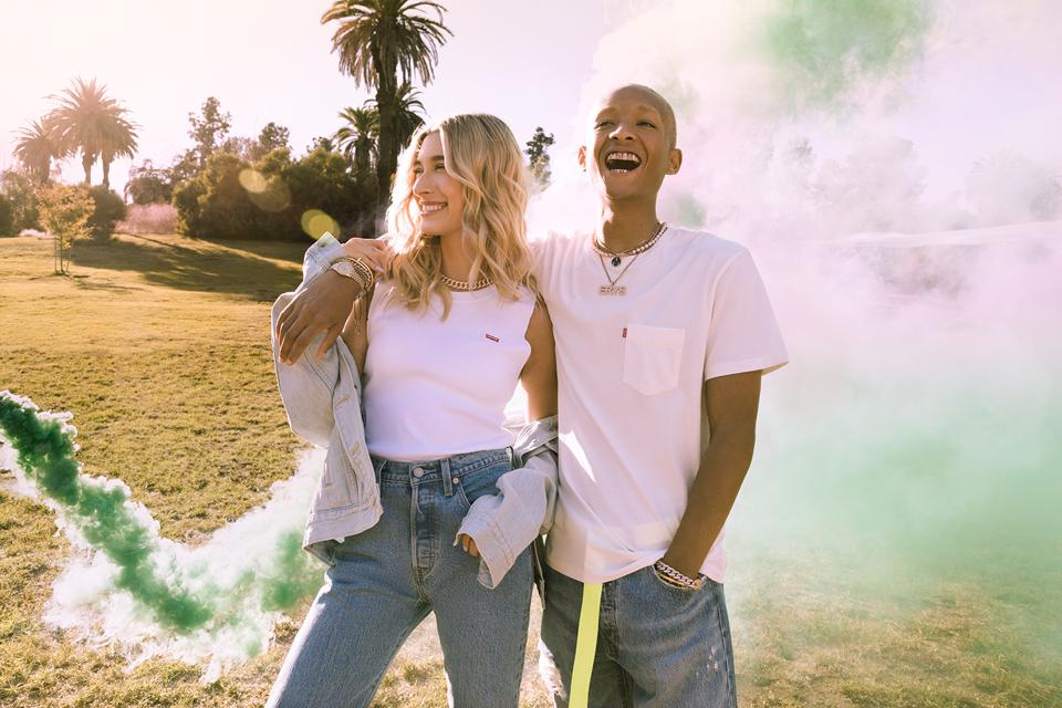 Hailey Bieber and Jaden Smith for new 2020 Levi's campaign.