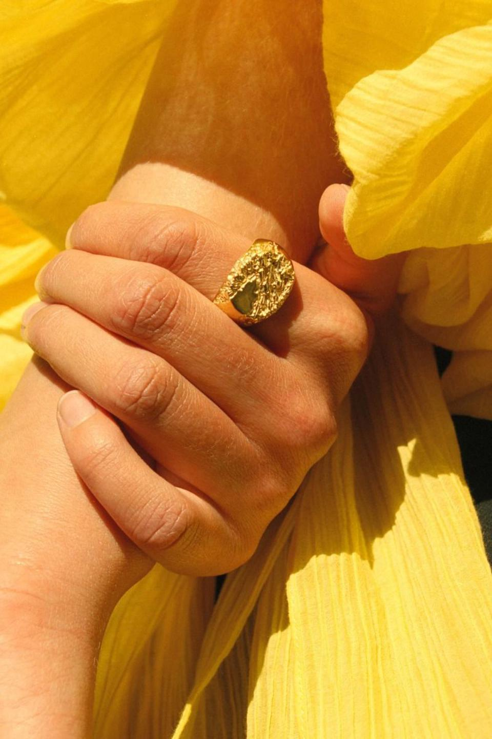 Rock Signet Ring by Maria Black