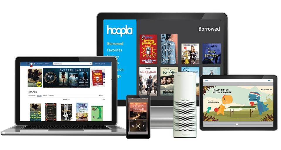 All of the different devices on which hoopla is available.