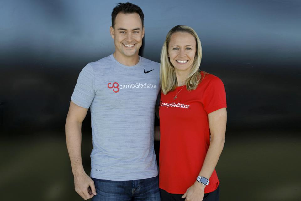 Jeff and Ally Davidson, cofounders of Camp Gladiator.