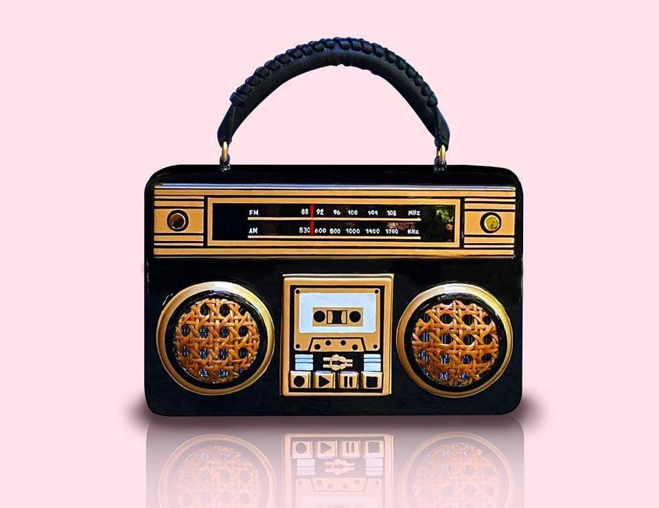 Handcrafted Radio Cassette Bag by Zarah Juan