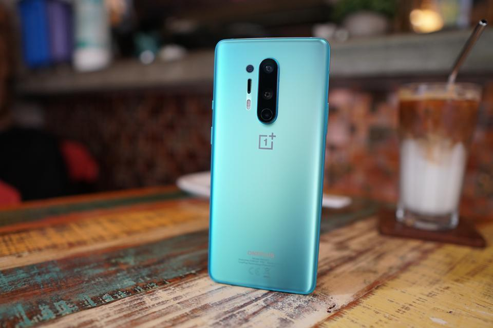The OnePlus 8 Pro has a matte glass back.