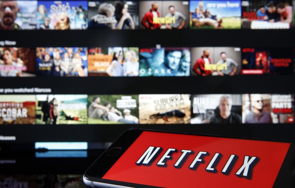 Netflix on a TV screen