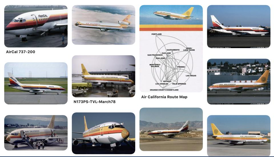 Air Cal historic fleet