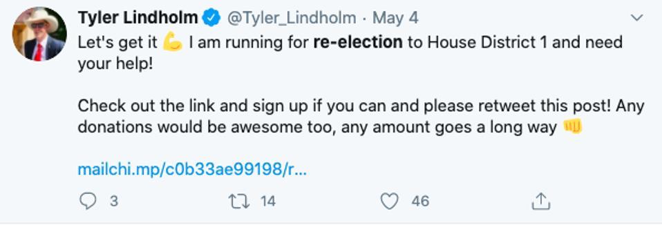 Twitter / Tyler Lindholm