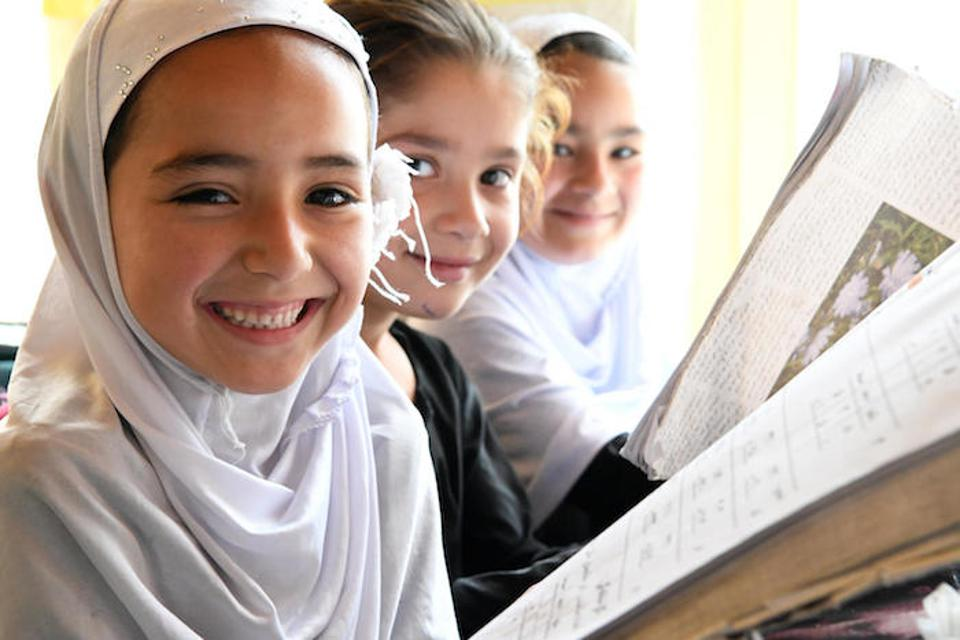 Students attending class in Turgani High School in Faizabad, the largest city of Badakhshan, a northern province of Afghanistan.