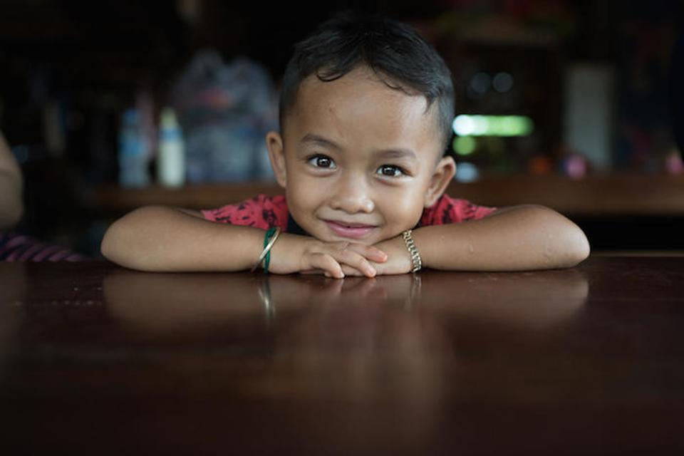 UNICEF works in vulnerable districts in Cambodia's Kratie and Ratanakiri provinces and in Phnom Penh to help meet the needs of pregnant women, babies and young children like 4-year-old Nom Som, who lives with his mother in Okapel village, Ratanakiri.
