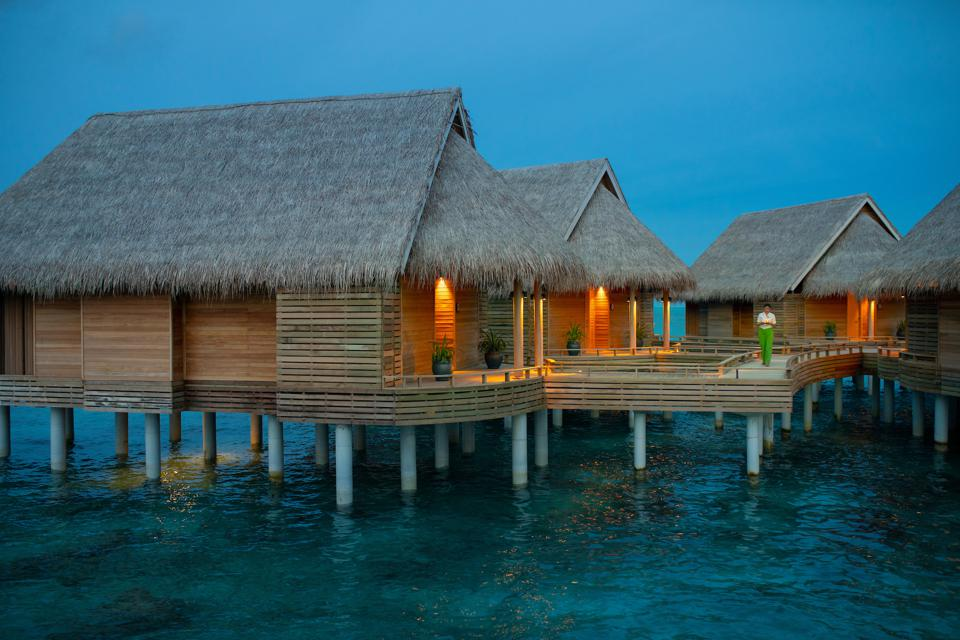 overwater bungalows in the Maldives