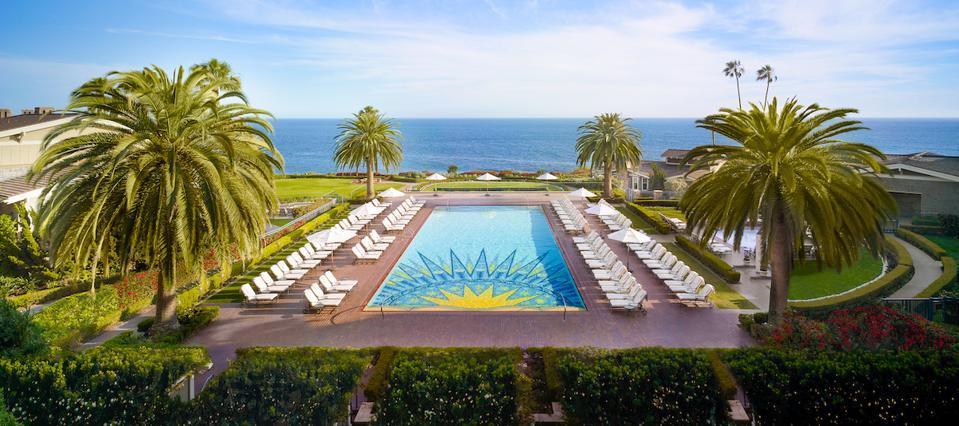 Luxury hotel travel pool