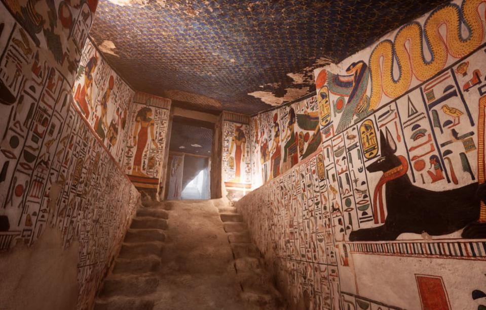 Part of the Queen Nefertari VR experience.
