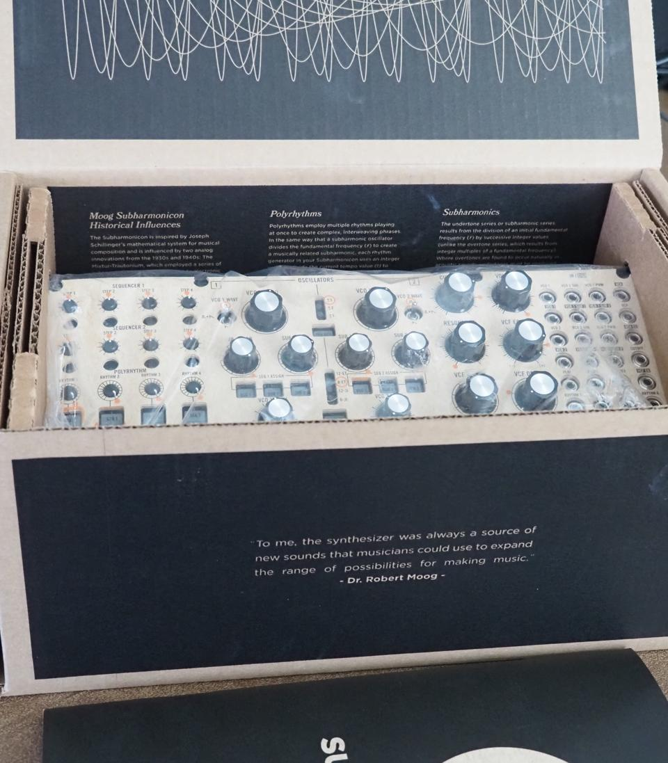 A picture of the Subharmonicon in the package.