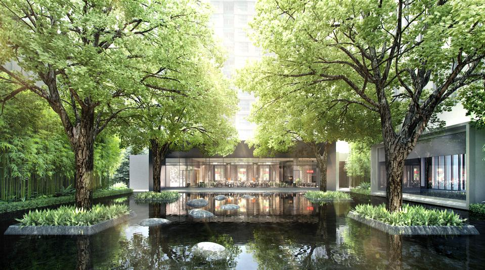 Luxury four seasons hotel travel pool