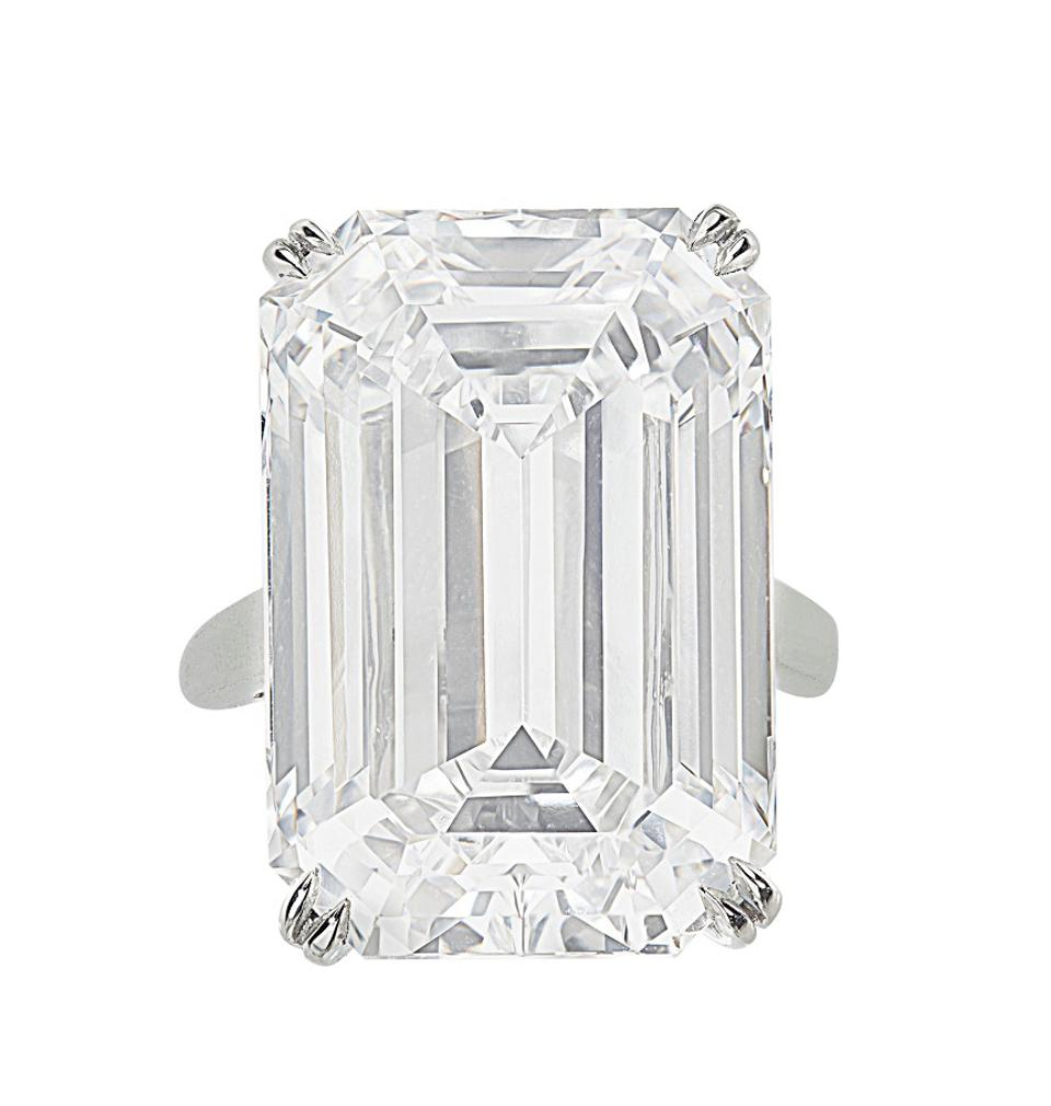 A Diamond Ring of 28.86 Carats that set a world auction record of $2.1 million