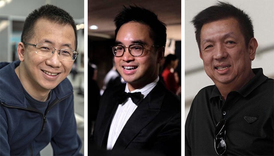 Zhang Yiming, Adrian Cheng and Peter Lim