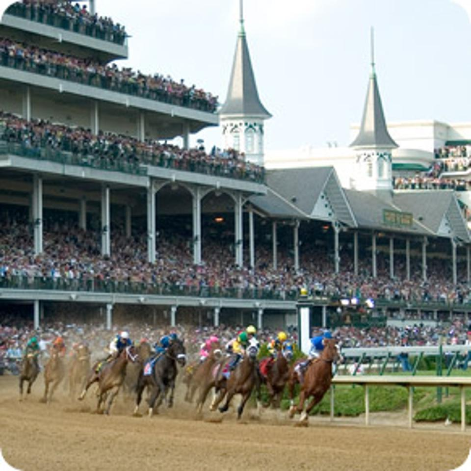 Horse racing under the TwinSpires at Churchill Downs