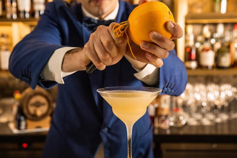 Cocktail creations at Donovan Bar, Brown's Hotel London.