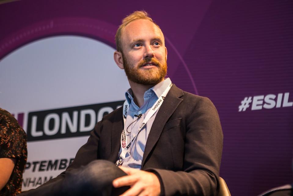 Luckbox CEO Quentin Martin talks on a panel at ESI London.