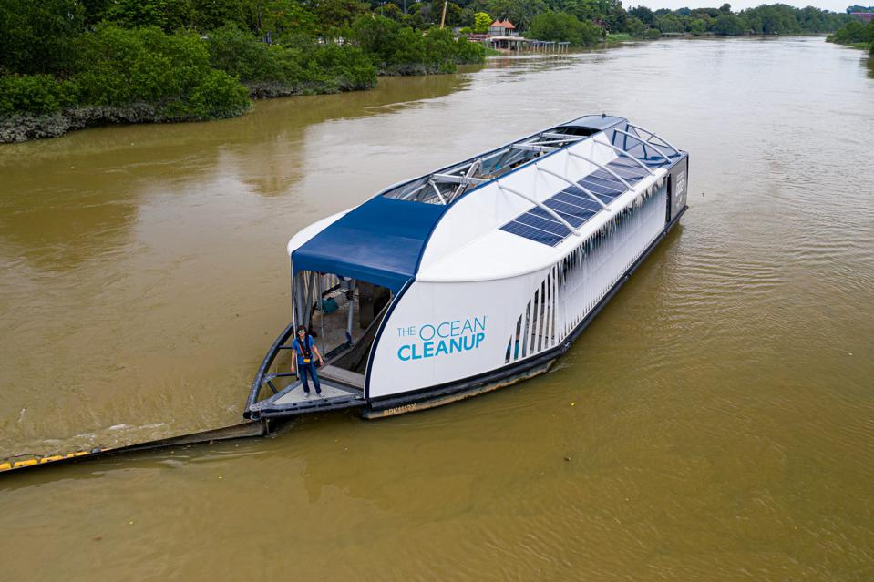 The River Interceptor at work in Malayasia