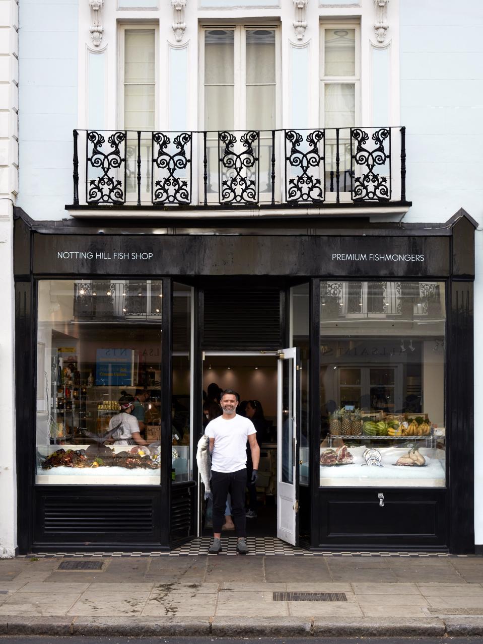 Chris D'Sylva, owner of The Notting Hill Fish Shop