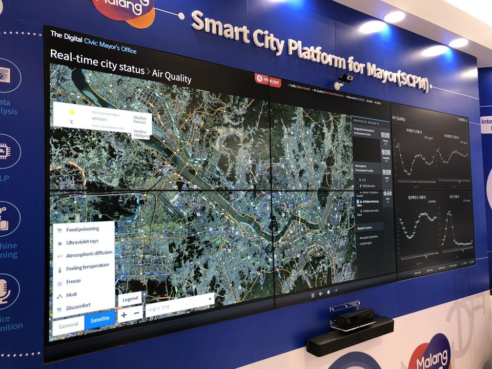 A smart cities data aggregation platform from a Korean company working in China.