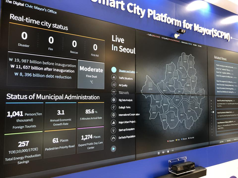 A smart cities platform from Hancom, as seen at CES 2019 in Las Vegas