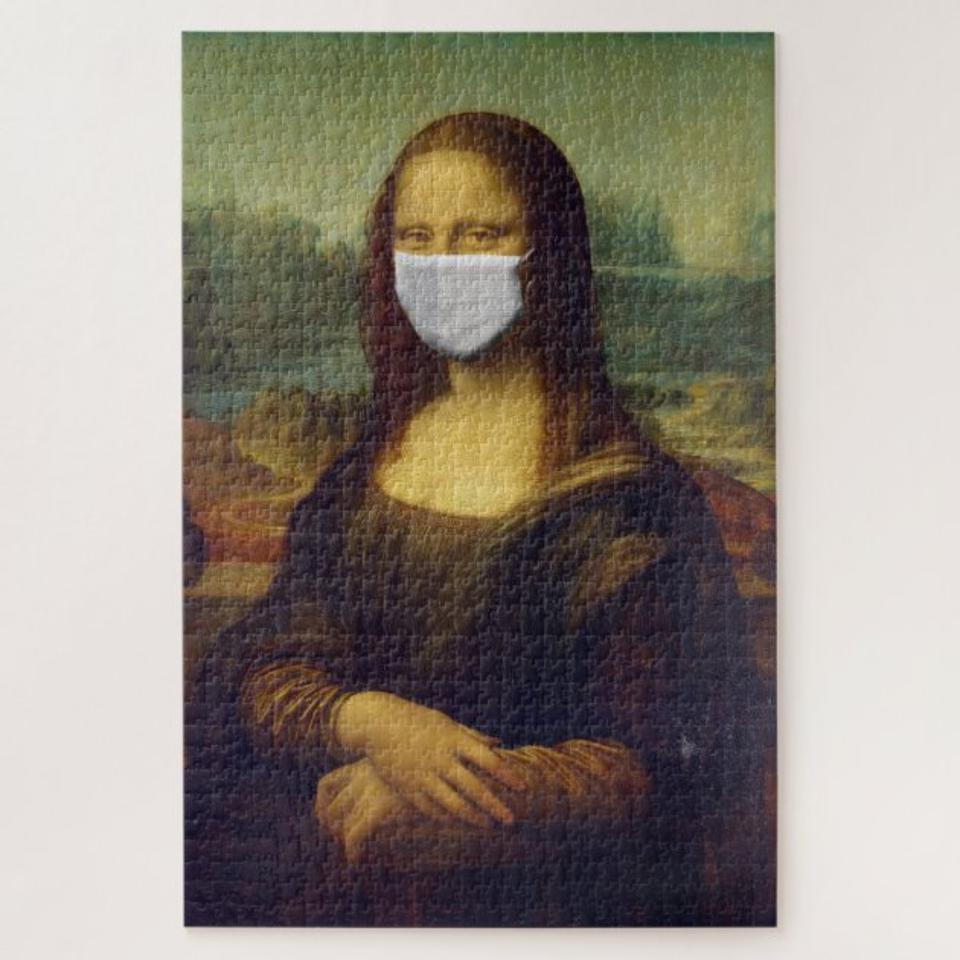 Mona Lisa in a Surgical Mask