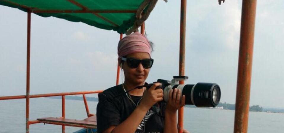 Marine biologist Ketki Jog collects humpback dolphin data off India's west coast