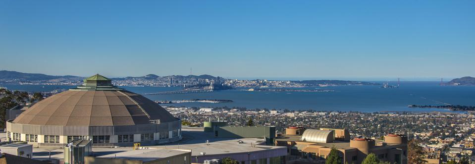 Advanced Light Source at LBNL overlooking San Francisco Bay