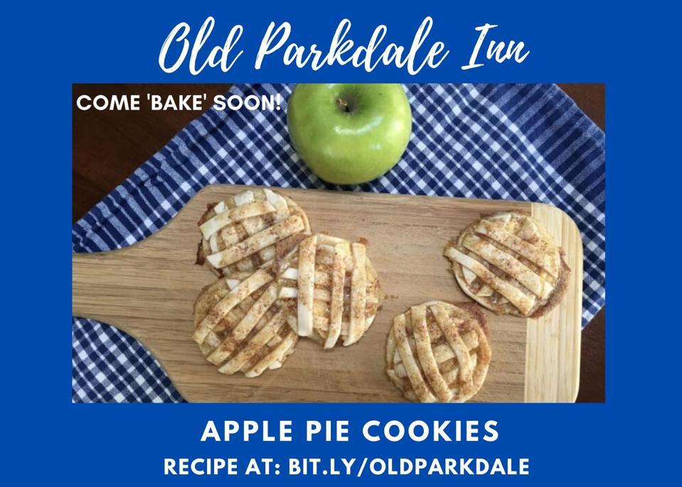 apple pie cookies on cutting board