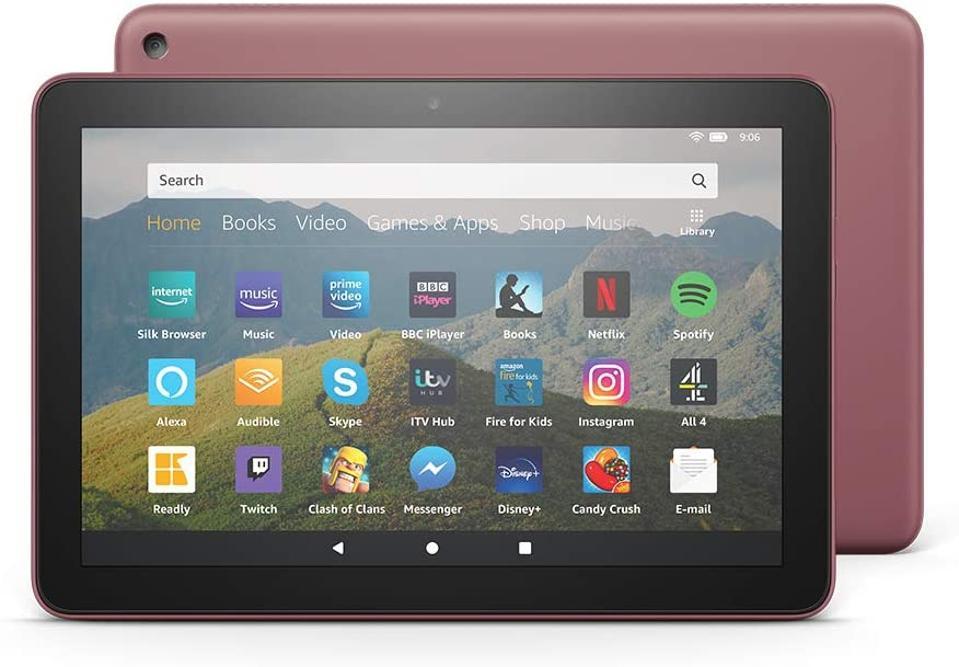 Amazon Fire HD8 in plum