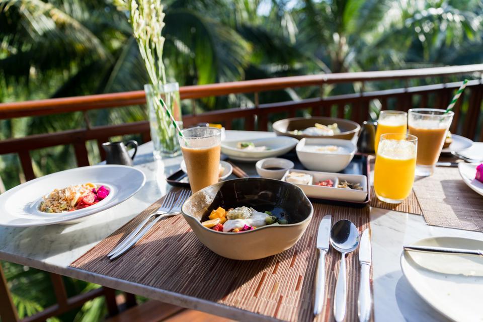 Bali, Indonesia - Breakfast the Four Seasons Sayan