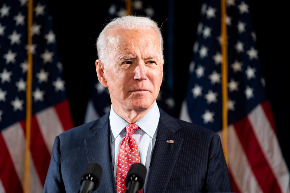 Joe Biden Talks About the Coronavirus in Washington, US