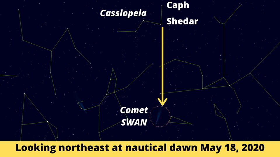 How to use Cassiopeia to find Comet SWAN