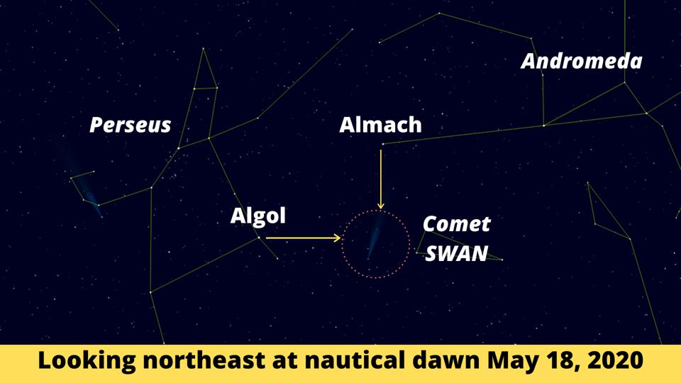 How to use Perseus and Andromeda to find Comet SWAN