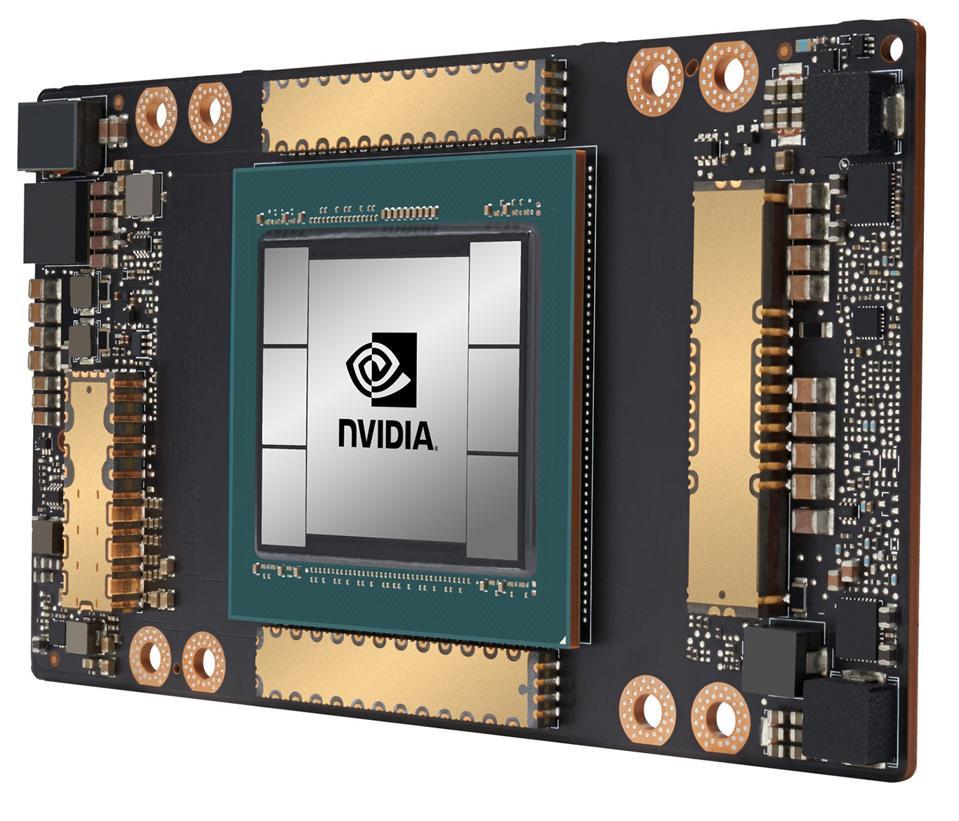 NVIDIA A100 Tensor Core GPU Module.