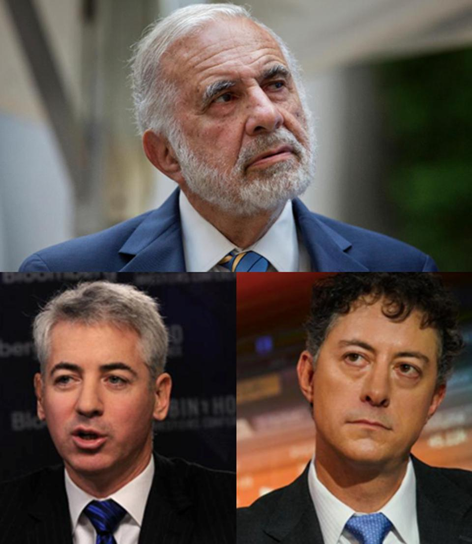 Carl Icahn, Bill Ackman and Jeff Smith, three of America's greatest hedge fund activist legends