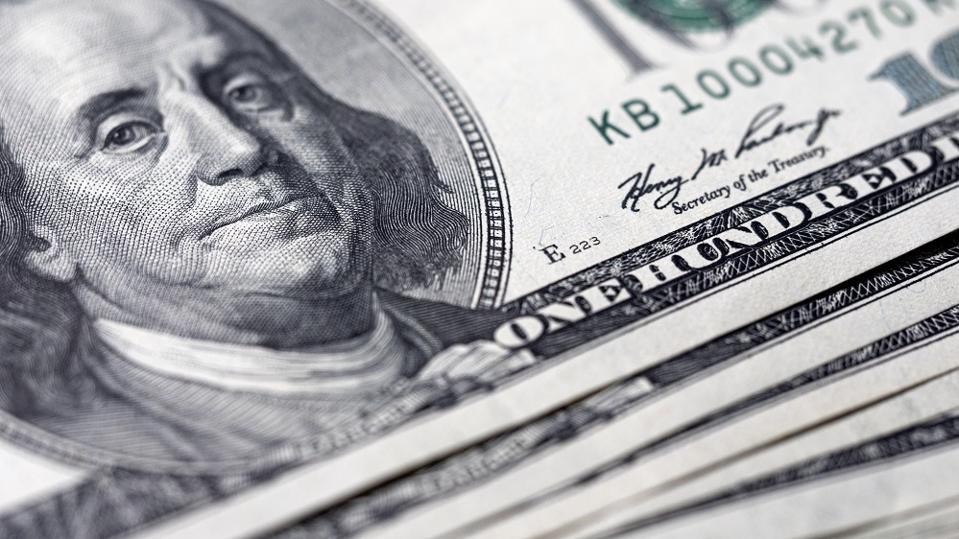 US hunder dollar notes