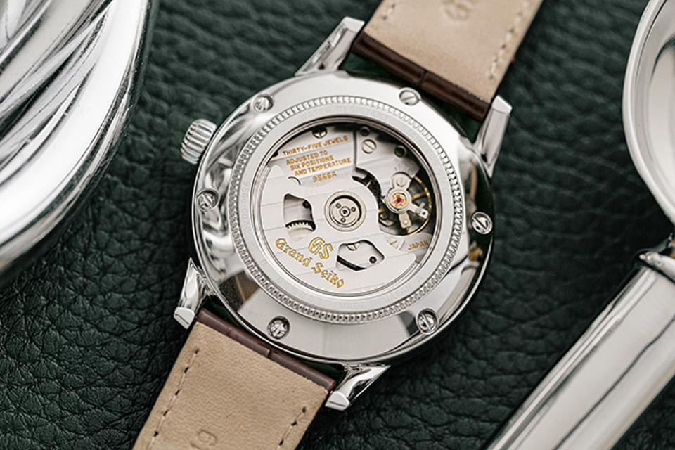 Caseback of the The Toge, a Grand Seiko + Watches of Switzerland special store edition.