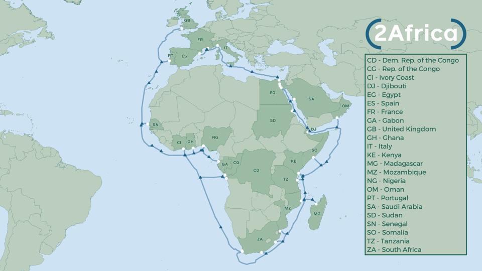 2Africa undersea cable