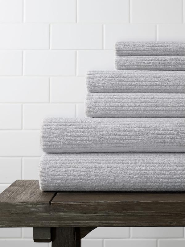 Boll & Branch Spa Bath Towel Set in Pale Pewter