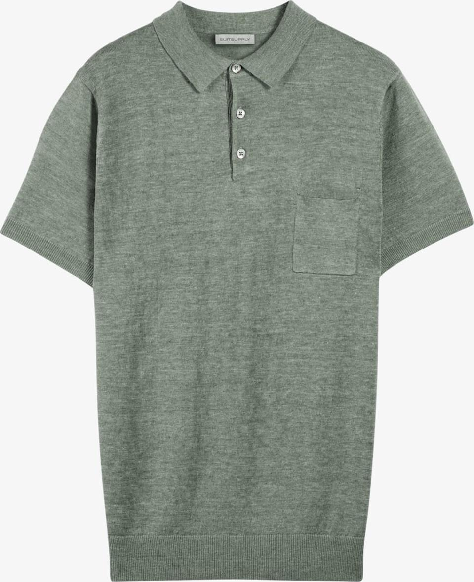 Suitsupply Army Green Polo