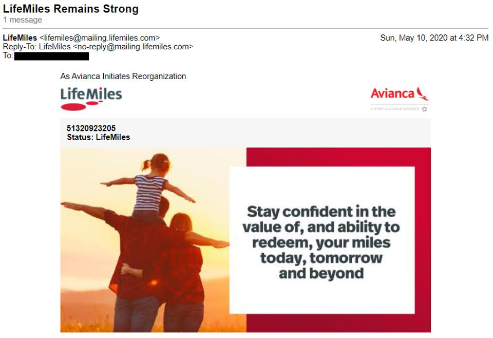 Avianca announces that LifeMiles members can be confident in the value of, and the ability to redeem miles.