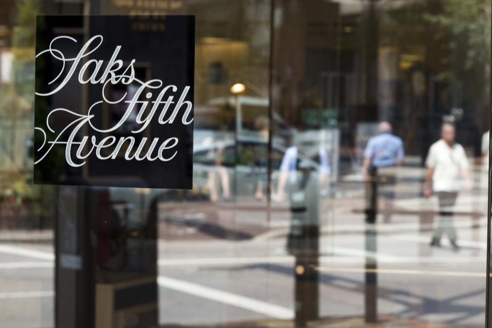 Saks Fifth Avenue store front.