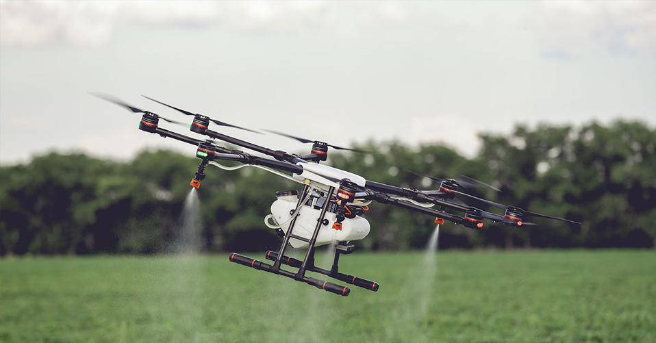 drone farm covid-19 disinfection