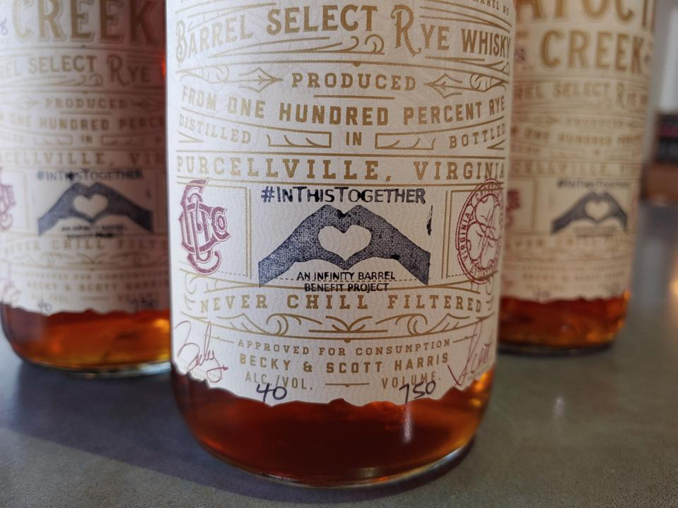 Bottles of Catoctin Creek's #InThisTogether blend