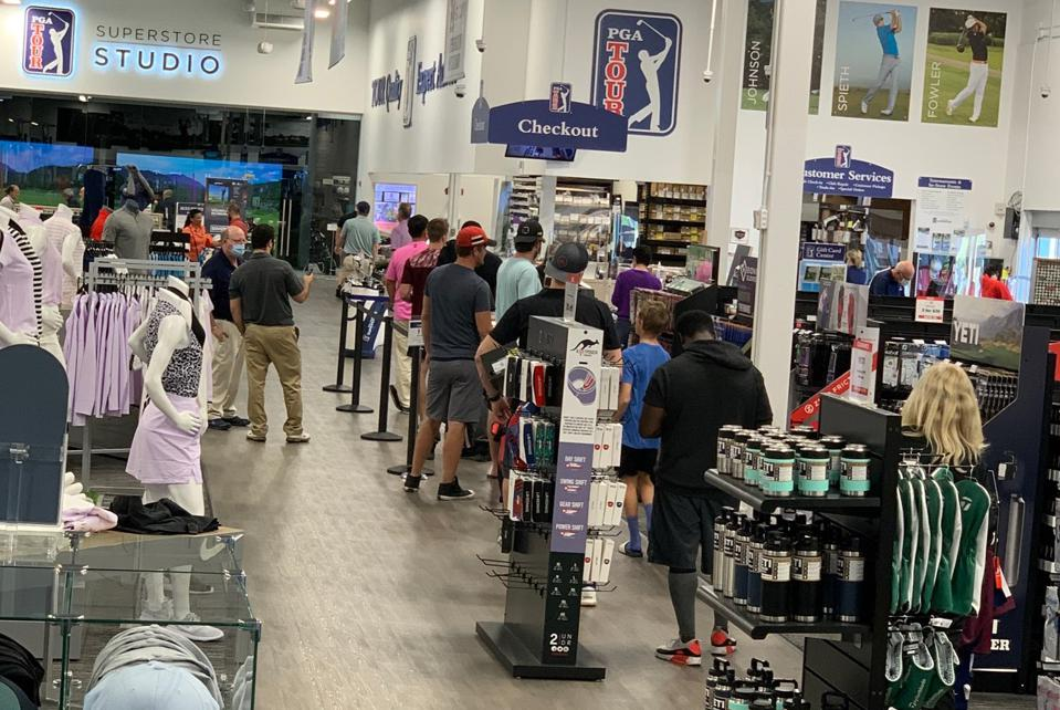 Golf retail stores reopen