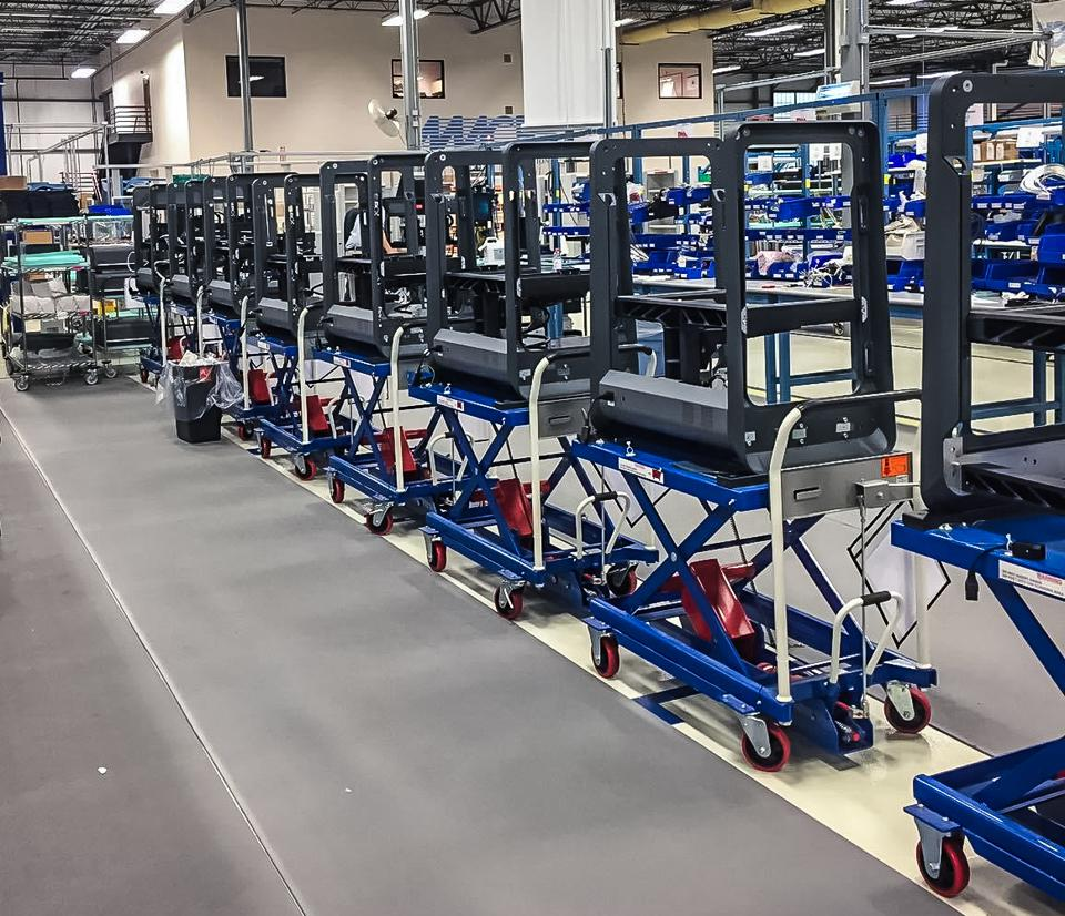 Metal 3-D printers on the production line