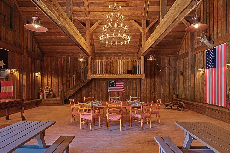 There is an authentic saloon that doubles as a dance hall.